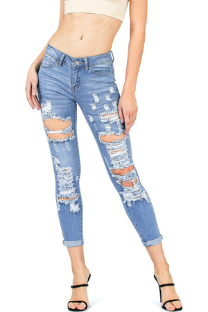 Diverge Cropped Skinny Jeans