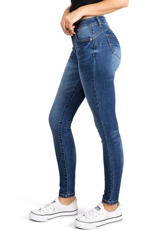 Sleek High Rise Skinny Jeans