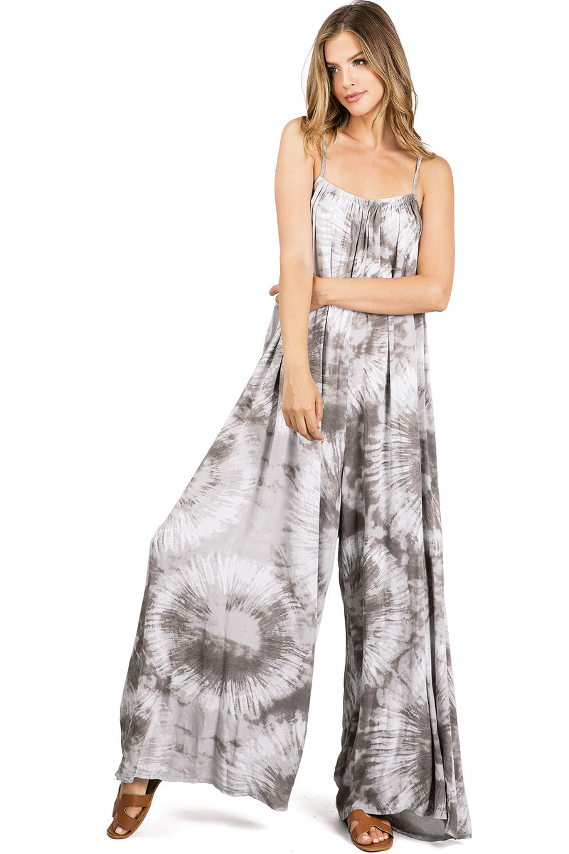 Starry Dye Wide-Leg Jumpsuit