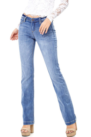 Color Wash Mid-rise Skinnys