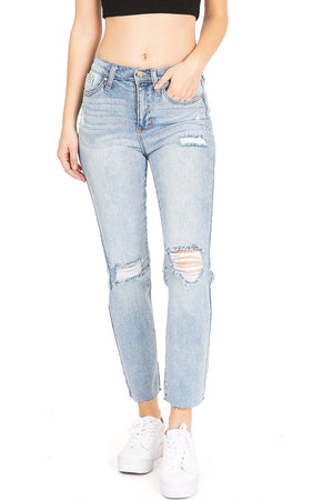 Thick Denim Boyfriend Jeans