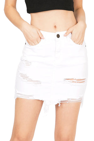Coastal Denim Mini Skirt