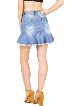Dolly Flare Denim Skirt