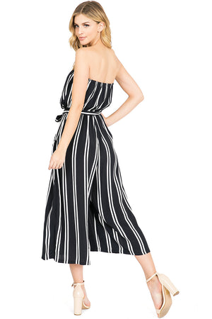 Jewels Stripe Culotte Jumpsuit