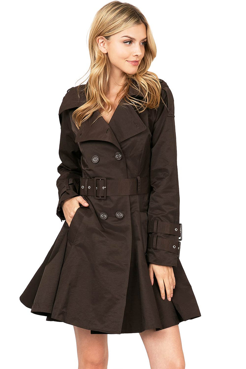 Parisian Trench Coat Dress