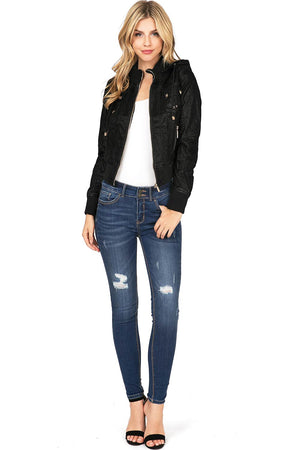 Reflection Crop Moto Jacket