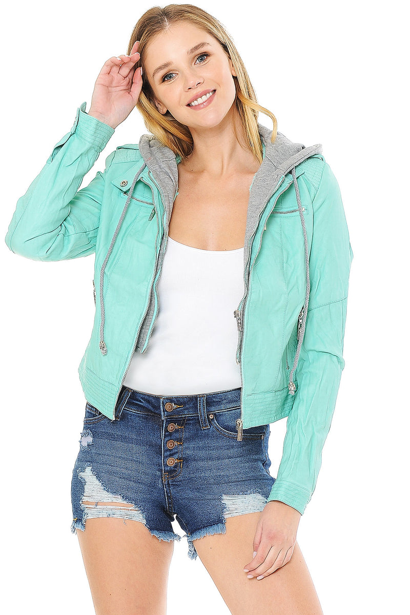 Breeze Faux Leather Jacket
