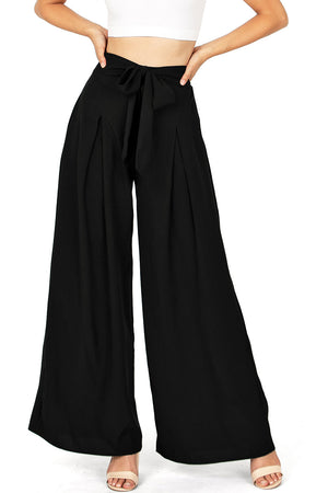 Empire Wide-Leg Pants
