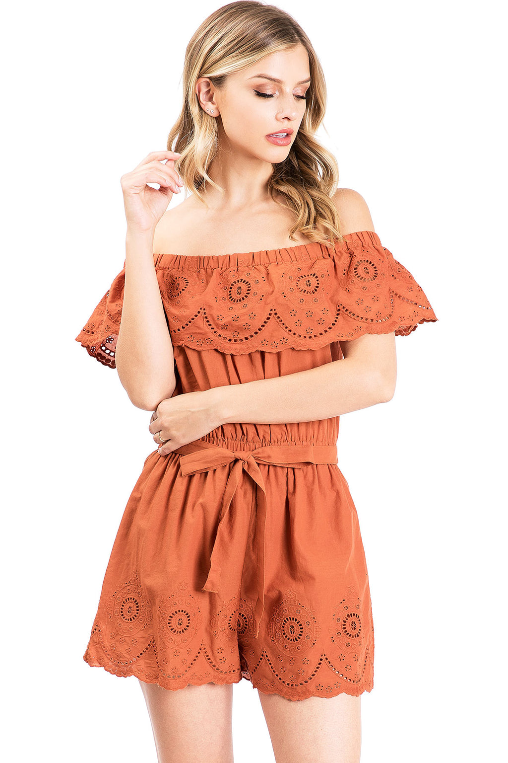 Isla Off Shoulder Romper