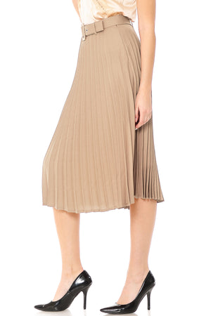 Alexa Pleat Midi Skirt