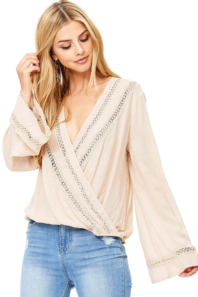 Fortune Surplice Blouse