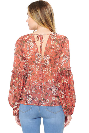 Poppy Surplice Blouse