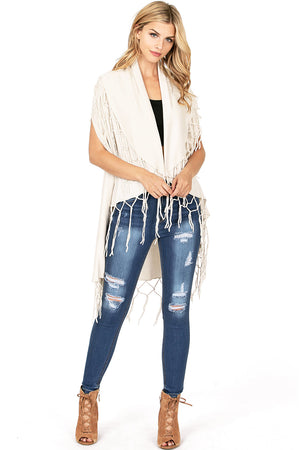Total Catch Fringe Cardigan