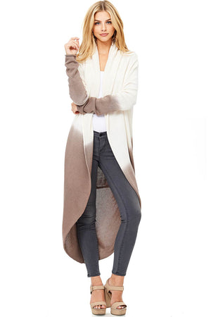 Dip Dye Inversion Cardigan