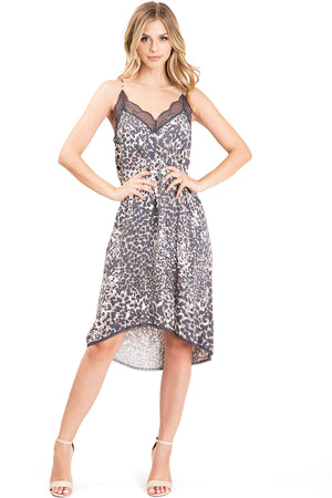 Leopard Slip Dress
