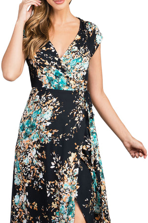 Floral Flow Wrap Dress