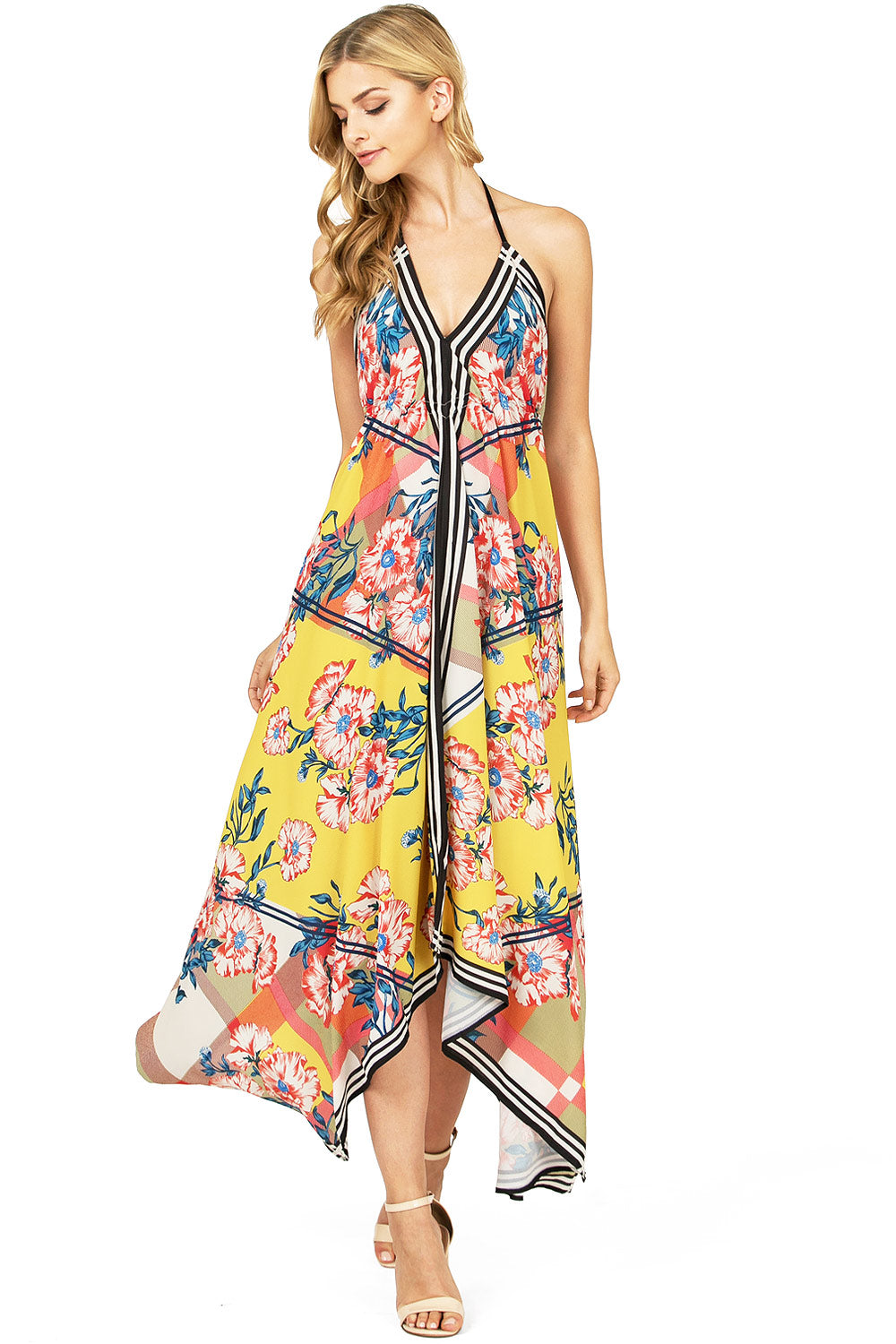 Sunshine Floral Midi Dress