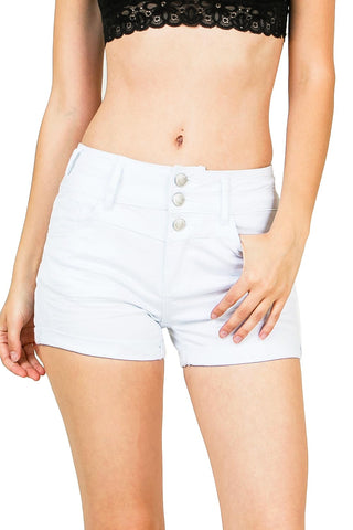 Rose Match High Waist Shorts