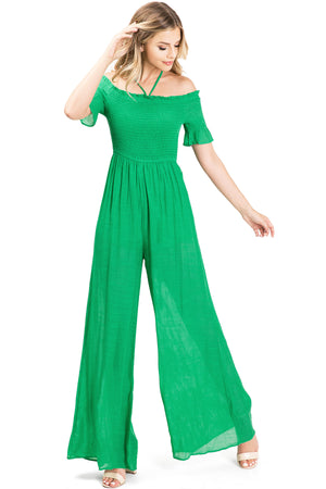 Solstice Smocked Jumpsuit