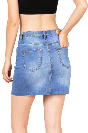 Notch Denim Mini