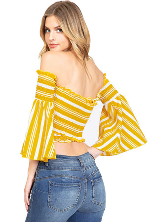Bella Stripe Crop Top