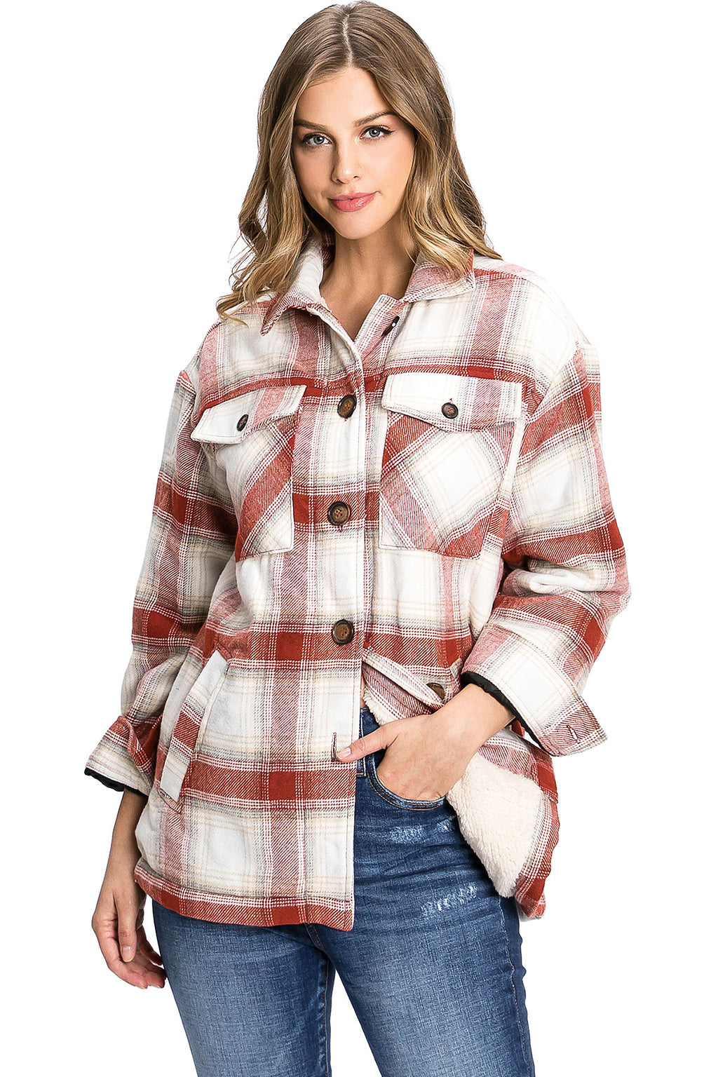 Plaid Sherpa Flannel Shacket