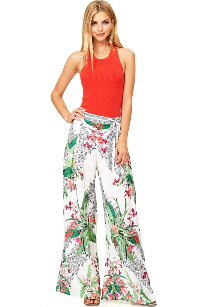 Satin Oasis Wide Leg Pants