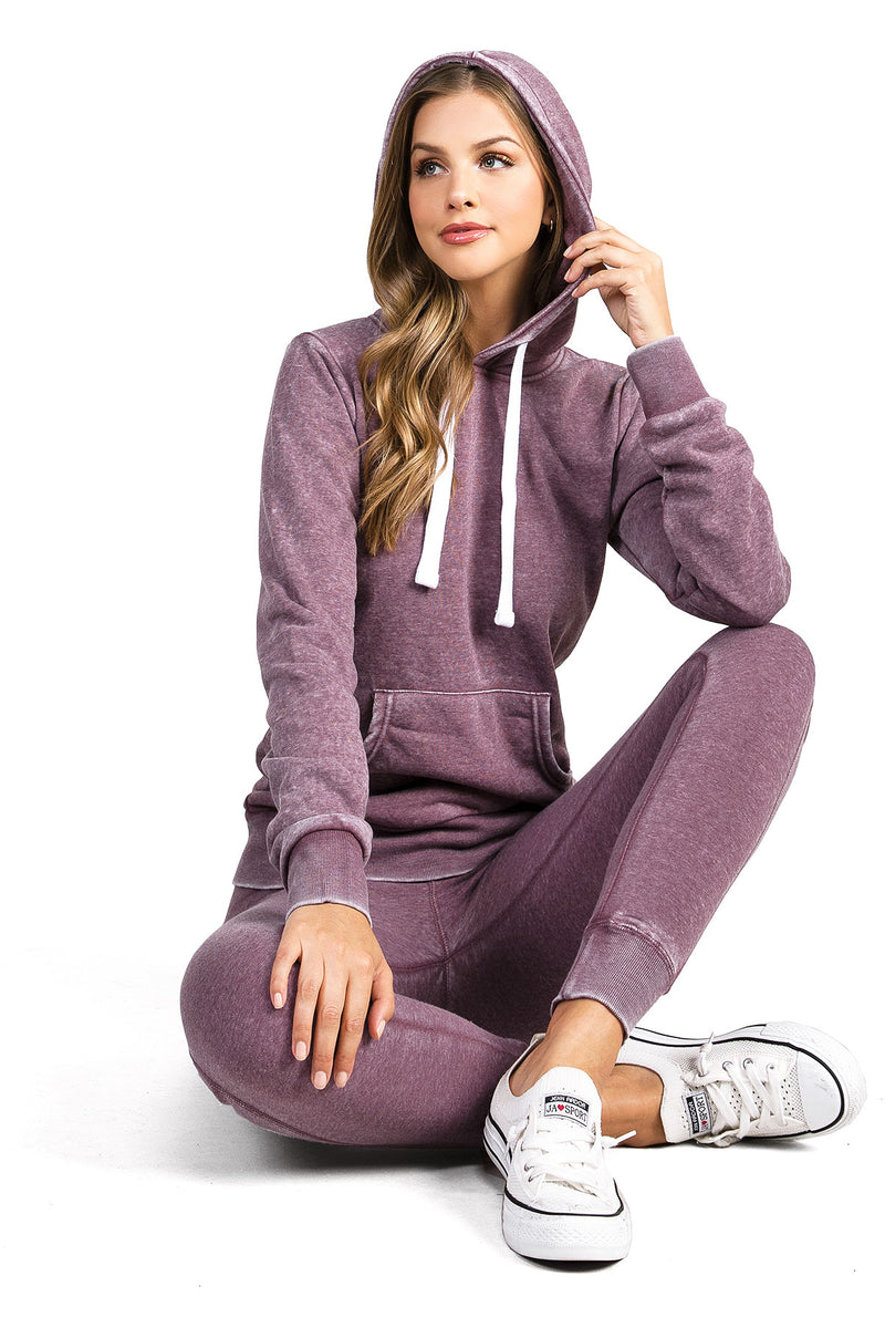 Washed Hoodie Jogger Set