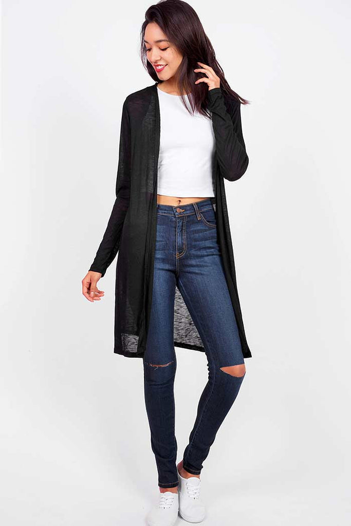 Knee Slash High Waist Skinny Jeans