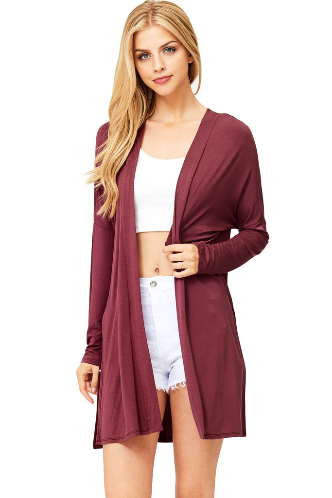 Contemporary Open-Front Cardigan