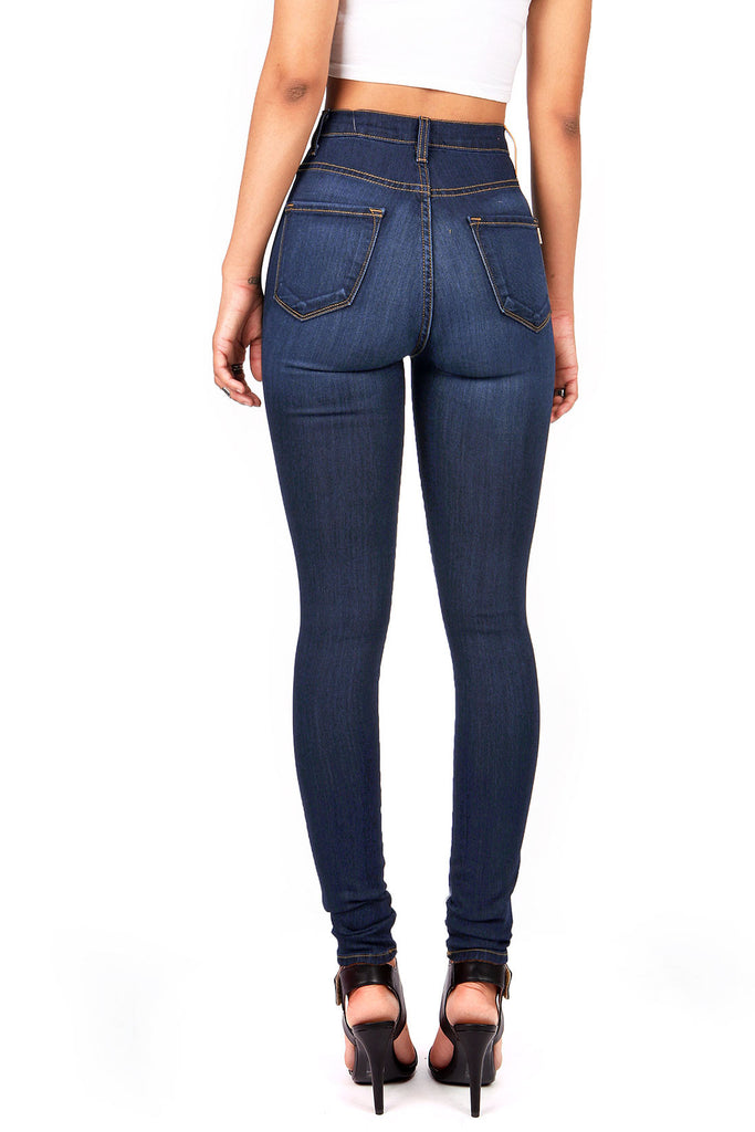 Kneecap Shred High Waist Skinny Jeans