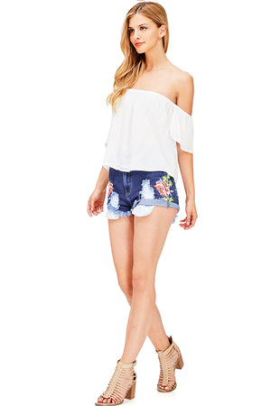Rosevine High Waist Shorts