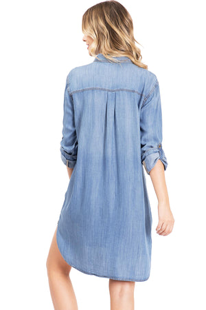 Serene Chambray Shirt Dress