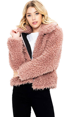Fuzzy Teddy Bear Jacket