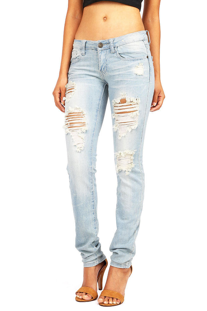 Treading Slasher Low-Rise Straight Jeans