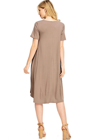 Faithful A-line Midi Dress