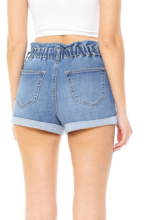 Dixie Denim Paperbag Shorts