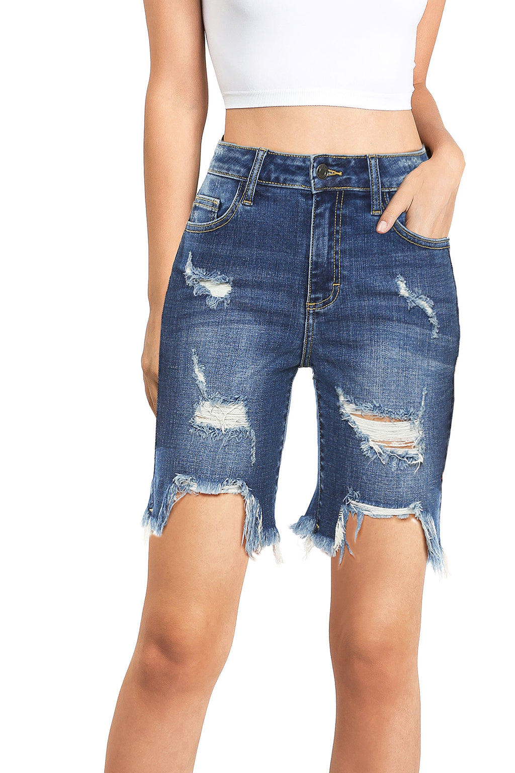 Riptide Bermuda Denim Shorts