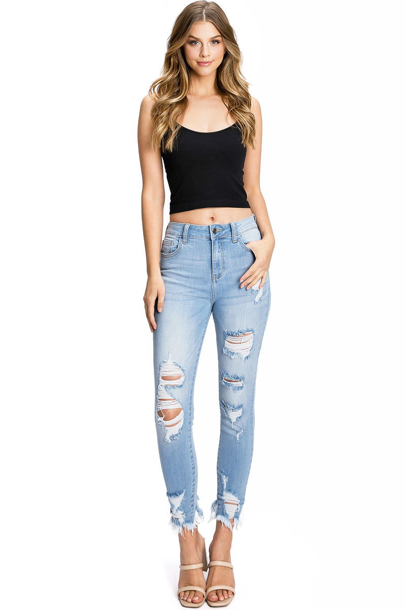Rise Ankle Skinny Jeans
