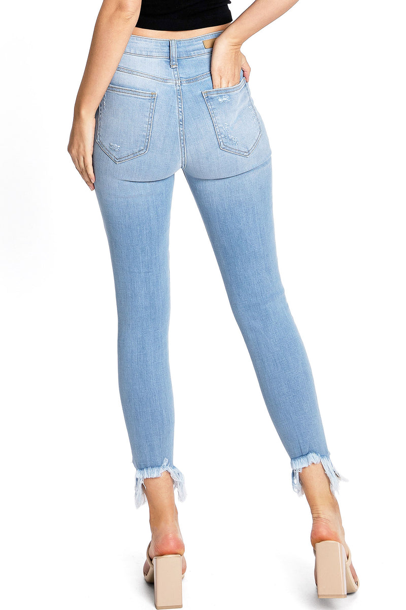 Rise Up Ankle Skinny Jeans