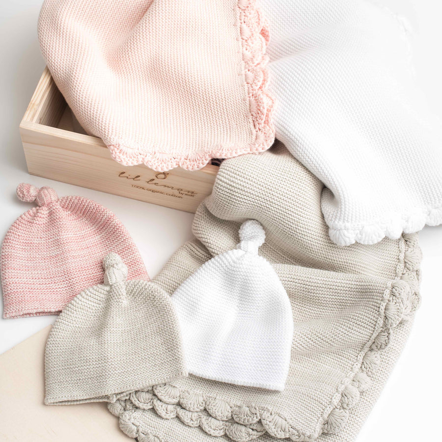 Spring 2018 Collection Sneak Peak: Heirloom Baby Blanket Gift Sets