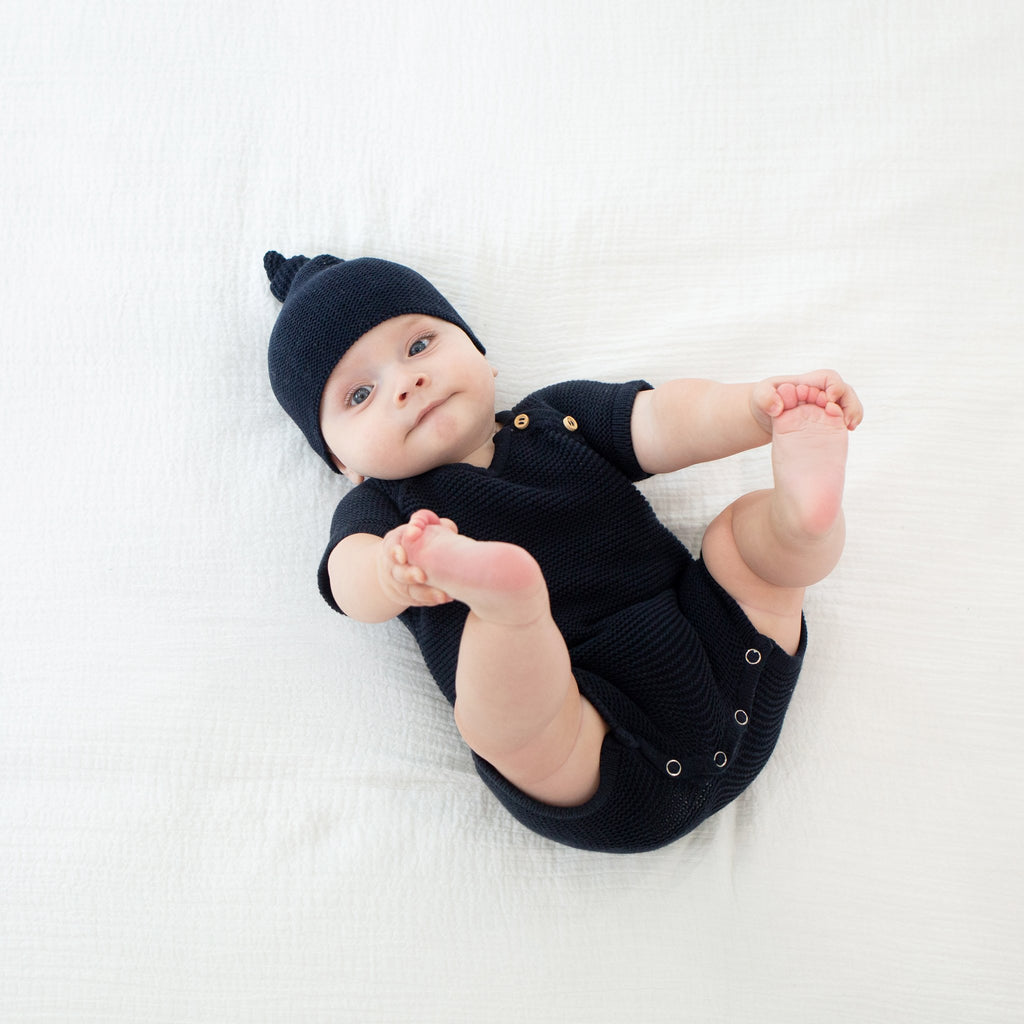 Organic Cotton Cozy Top Knot Hat