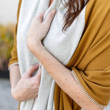 Dreamsoft Travel Scarf Bronze Color block