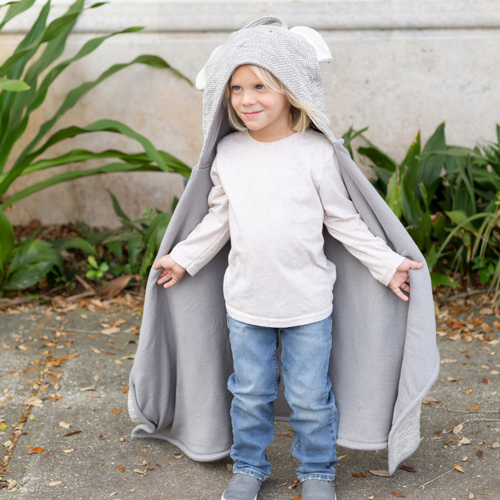 Organic Cotton Kids Travel Blanket - Bear by top Organic Cotton Clothing Boutique, Zestt