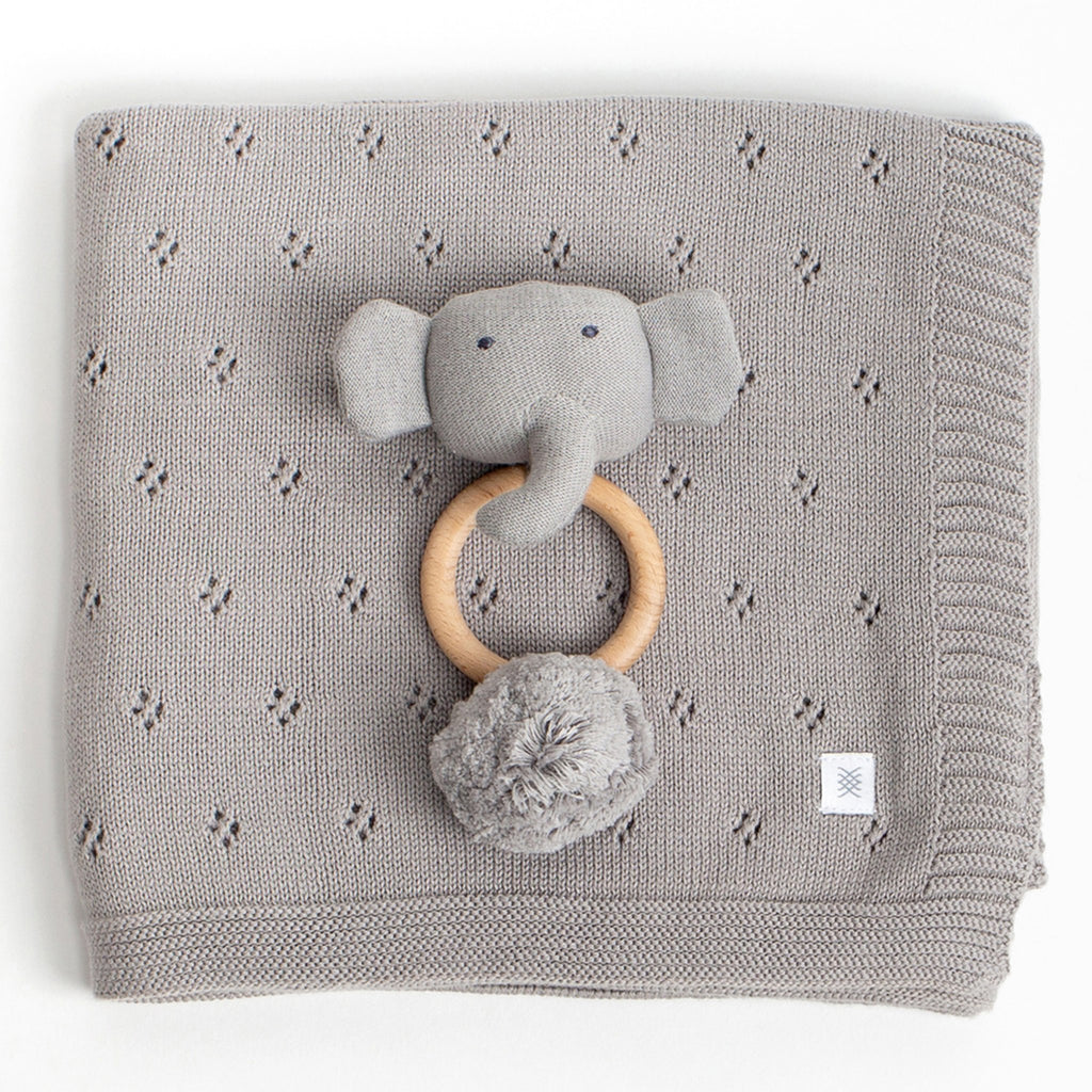 Organic Cotton Clover Knit Baby Gift Set