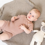 Organic Cotton Classic Knit Short Baby Romper