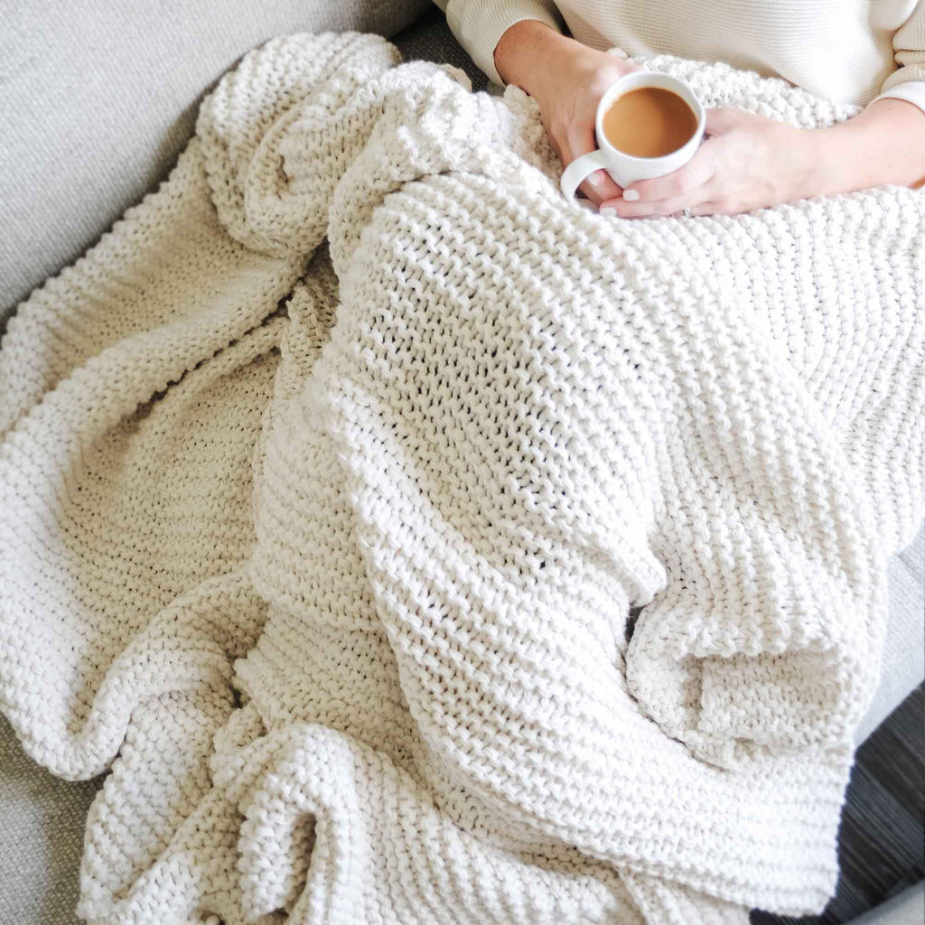 Organic Cotton Comfy Knit Throw