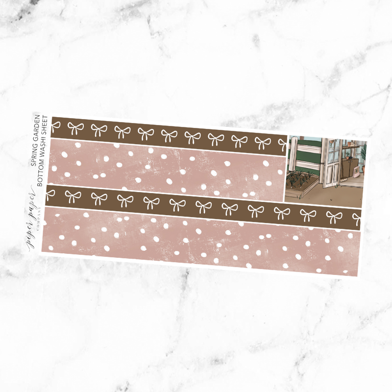 Spring Garden Bottom Washi Add On Sticker Sheet