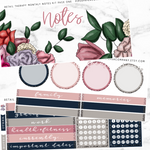 Retail Therapy Monthly Notes Page Kit For The Vertical ECLP