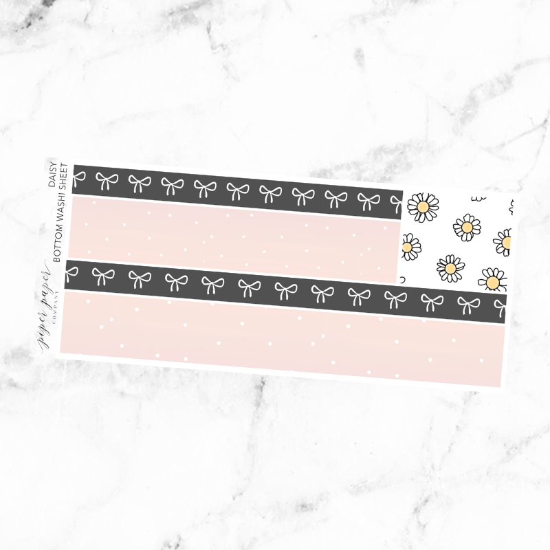 Daisy Bottom Washi Add On Sticker Sheet